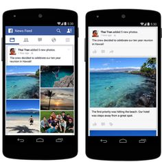 Facebook now lets you reorder your mobile photo uploads and create stories for context