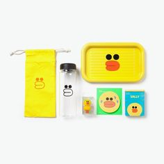 SNS #LINE FRIENDS #SALLY Chick Character Office Supplies Goods Set #LINEPLUS