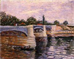 The Seine with the Pont de la Grande Jette - Vincent van Gogh - 1887
