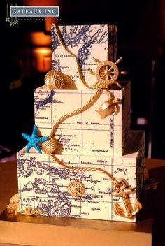 Map/ Nautical cake