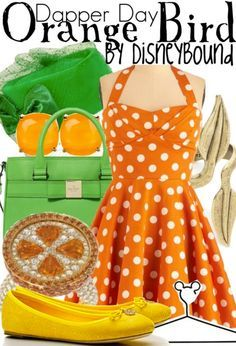 Tiki Room-Orange Bird Disneybound