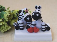 Cake topper Paper Quilled Zebra Personalized by InspiringSilence, $45.00