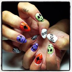 holiday nail art holloween