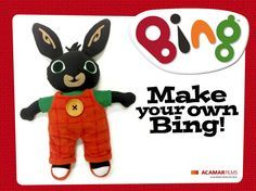 This is the link to great instructions to make your own Bing Bunny!  They were posted on Bing Bunny's FB page https://www.facebook.com/bingbunny/photos/a.641043302584162.1073741828.592801747408318/921695534518936/?type=1&permPage=1