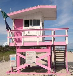 Pretty pink lifeguard stand!!! Bebe'!!! Pretty Pink Passion for safety!!!