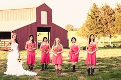 I don't like the pink! But I do like his bridesmaids are holding onto one sunflower. I think it very simple!