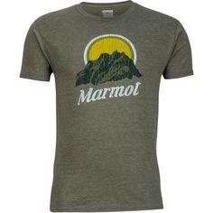 Marmot Men's Pikes Peak T-shirt (Green Dark, Size Medium) - Men's Outdoor Apparel, Branded Graphic T's at Academy Sports