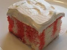 (I'm using lime) Strawberry jello poke cake with Cool Whip topping Recipe
