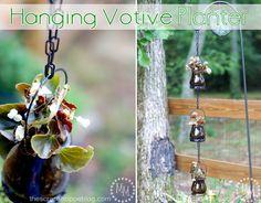 Make a hanging votive planter