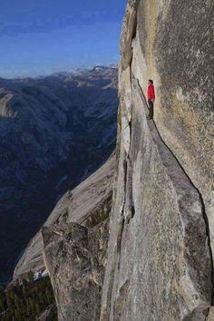 The 'Thank God Ledge' Yosemite National Park, California, USA