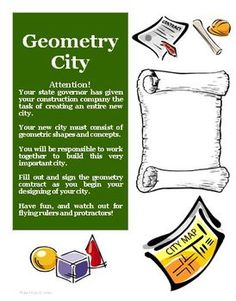 Your students will love this Geometry City creative project and activity that is aligned with the Common Core for math! $