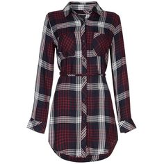 Rails Tartan Nadine Shirt Dress (€195) ❤ liked on Polyvore featuring dresses, shirts, long plaid shirt dress, shirt dress, tartan plaid dress, plaid dress and tartan dress
