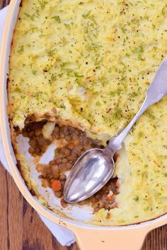 Lentil Shepherd's Pie with Mashed Potato-Parsnip Crust is healthy comfort food at its best. Meatless and gluten-free and oh so tasty!