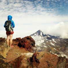 Hiking South Sister in the Cascade Mountains of Central Oregon ------------------- @asalzwed