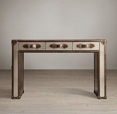 Restoration Hardware (Mayfair Steamer Trunk 3-Drawer Desk, $ 1595)