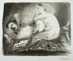 Pablo Picasso The Sleeping Men (Le Dormeur), 1942 Lithography Pablo Picasso Artwork, Picasso Prints, Picasso Sketches, Picasso Drawing, Trinidad, Sleeping Man, Georges Braque, Spanish Painters, Art Archive