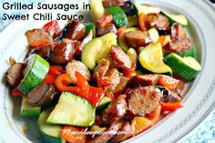 Use your left-over grilled sausages or hot dogs to make this easy and yummy…
