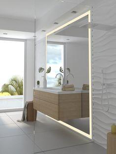 Badspiegel, Wandspiegel und Spiegel nach Maß beleuchtet bei #spiegelshop24 https://spiegelshop24.com