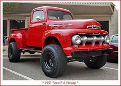 1951 Ford Pickup You can register for my On The Road With… - Tap The Link Now To Find Gadgets for your Awesome Ri 1951 Ford Truck, Old Pickup Trucks, Ford 4x4, 4x4 Trucks, Lifted Ford Trucks, Cool Trucks, Chevy Trucks, Custom Trucks, 1954 Ford