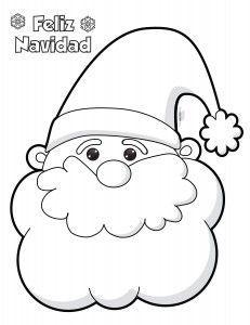 Santa-Claus-para-colorear-e-imprimir - Orientación Andújar - Recursos Educativos Christmas Drawing, Felt Christmas, Christmas Colors, Christmas Projects, Christmas Decorations, Christmas Ornaments, Felt Crafts, Diy And Crafts, Santa Claus Drawing