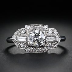 .50 carat diamond Art Deco engagement ring from the archives of Lang Antiques