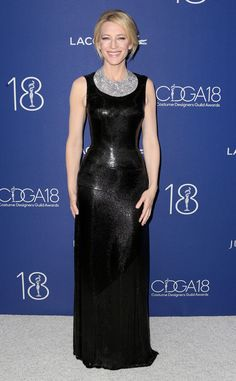 Cate Blanchett from Oscars 2016: Party Pics  The Carol star shines in a Tiffany & Co. diamond bib necklace (worth $1.5 million!) at the 18th Costume Designers Guild Awards.