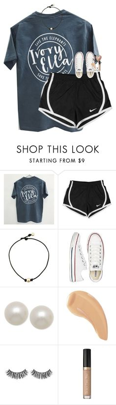 """my pups!"" by classynsouthern ❤ liked on Polyvore featuring NIKE, Converse, Honora, NARS Cosmetics, Rimini and Too Faced Cosmetics"