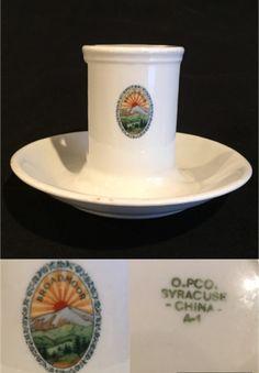 Syracuse China Match Holder made for the Broadmoor Hotel, Colorado Springs, CO. Date code (Jan Broadmoor Hotel, Syracuse China, Dining Services, Thing 1, Restaurant, Colorado Springs, Tableware, Dinnerware, Tablewares