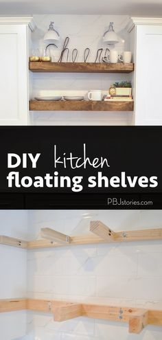 Kitchen Trends: Open Shelves - and an easy DIY tutorial how to make them yourself