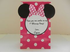 Minnie Mouse Inspired Goodie Birthday by whimsycreationsbyann, $7.50