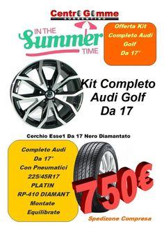 Cerchi In Lega A3 Golf 17 Con Pneumatici Nuovi 750 Golf, Ebay, Sanitary Napkin, Turtleneck
