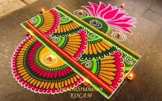 Free Hand Rangoli Design Ideas For Diwali image 17 Rangoli Designs Simple Diwali, Indian Rangoli Designs, Rangoli Designs Latest, Rangoli Designs Flower, Free Hand Rangoli Design, Colorful Rangoli Designs, Rangoli Ideas, Diwali Rangoli, Flower Rangoli