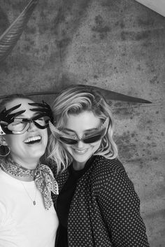 MAIKA MONROE AND CHLOË GRACE MORETZ in styles from the #mikliarchive at FYF Fest 2017