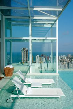 living rooftop pool