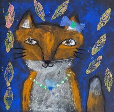 Second graders read The Fox in the Dark  and drew a fox of their own with soft pastels. Since the story takes place in ...
