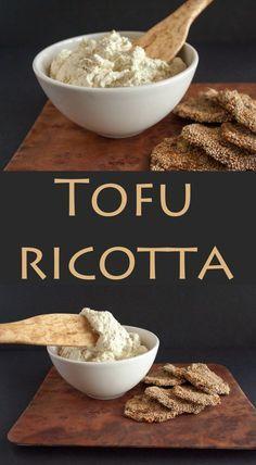 Tofu Ricotta - This vegan ricotta is delicious in lasagna or on crackers.