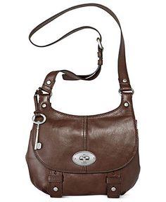 Fossil Handbag, Maddox Leather Flap Crossbody -  Macy's