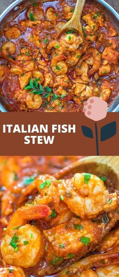 Salmon fillets and shrimp cooked in a tomato sauce with onions, garlic, and fresh herbs. This Italian Fish Stew makes an easy and scrumptious dinner, and comes together in less than 30 minutes. FOLLOW Cooktoria for more deliciousness! If you try my recipes - share photos with me, I ALWAYS check!