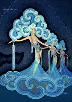 Ref. BERGERE = Abuela ex bailarina. Reaparece en Ballet Fuego / Números / Seres de la noche. Folies Bergere 1930s