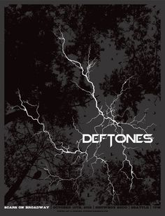 INSIDE THE ROCK POSTER FRAME BLOG: The Deftones Seattle Poster by Mike Klay