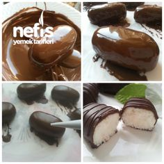 En Kolay Cocostar (10 Dakikada) – Nefis Yemek Tarifleri Tiramisu, Donuts, Pudding, Cooking, Desserts, Food, Star, Paper Board, Frost Donuts