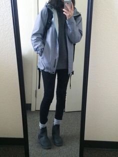 70 Most Suitable Women Rainy Outfit Ideas You Need To Buy 69 Asian Fashion, Look Fashion, Fashion Outfits, Womens Fashion, Hipster Fashion, Grunge Fashion, Hipster Clothing, Fashion Spring, Fashion Photo