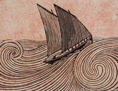 René Quillivic (French, 1879–1969, b. Plouhinec, Finistère, France) - Le Voilier, 1920 Woodcut
