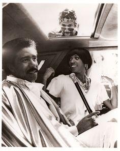 "Richard Pryor, on the set of the movie ""Car Wash"". 1976."