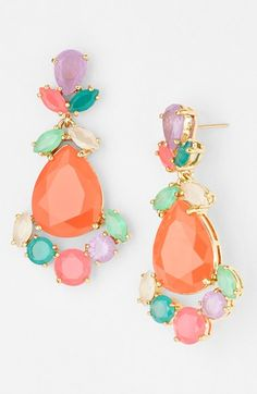Candy colored drop earrings