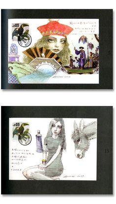 宇野亜喜良 少女からの手紙 Myrtle, Beautiful Artwork, Akira, Art Girl, Line Art, Psychedelic, Paper Art, Illustration Art, Paintings