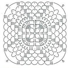 esquema de tricô motivo 9