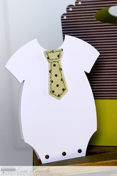 Necktie Onesie Card by Erin Lincoln for Papertrey Ink (April 2015)