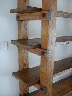 barnboard bookshelf