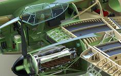 Technical Illustration (cutaways) by Raymond Ore, via Behance Technical Illustrations, Graphic Illustration, Technical Drawings, Diorama, De Havilland Mosquito, Camo Designs, Supermarine Spitfire, Aircraft Design, Model Airplanes